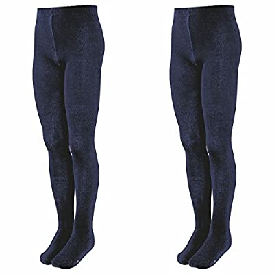 BANNER Girls Back to School Uniform 2 Pairs Tights Winter Warm Thick Cotton Rich : everything 5 pounds (or less!)
