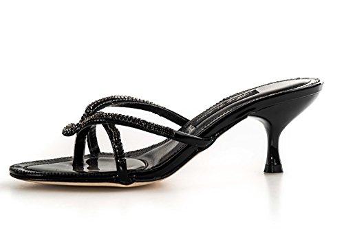 Sandalo infradito con strass ALBERTO VENTURINI nero scarpe donna N36 X3156