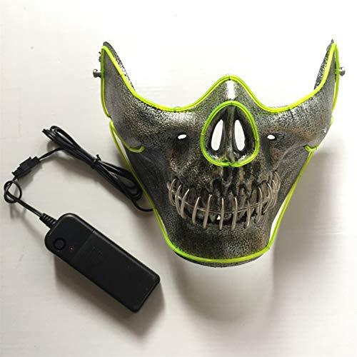OKBY Schädel Maske - LED Glow Half Face Schädel Modell Maske für Halloween Kostüm Party Prop Show