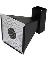 Arma de Aire - Embudo Cono Trampa para Objetivos con 20 objetovos de papel (Negro)