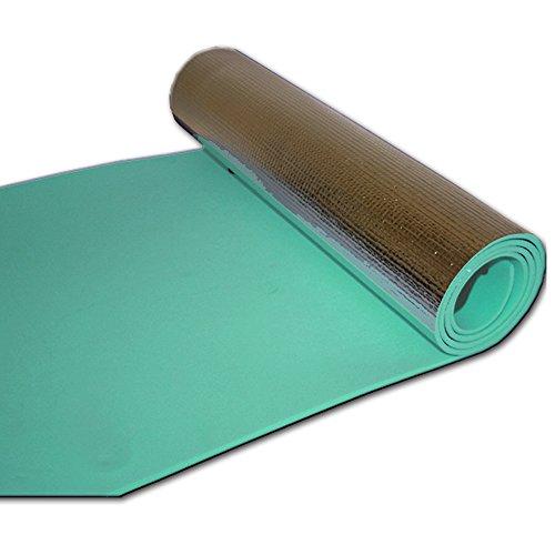 JEMIDI Campingmatte Bodenmatte Fitnessmatte Beschichtet Alu 180cm x 50cm Mint