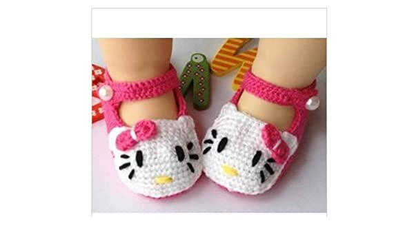 Hellokitty Newborn Baby Crochet Shoes Baby Toddler Shoes Baby Girl