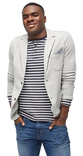 TOM TAILOR für Männer Blazer / Vest Sakko mit Struktur middle grey melange L
