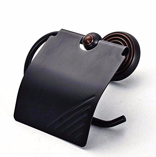 SJQKA Toilettenpapierhalter Toilettenpapier Rack Sanitären Einrichtungen Kleiderbügel Mit Europäischen Stil Voller Kupfer Retro - Antiken Bronze Papier Handtuchhalter Schwarzen Bronze - Papier.