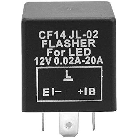 3-Pin Negro Moto plástico intermitente Relé de Shin Yo–Relé intermitente cf14jl 02Relay