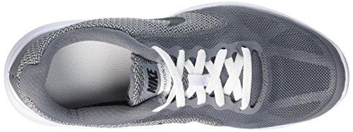 Nike Revolution 3 Gs, Entraînement de course garçon Multicolore (Cool Grey/Black/White/Wlf Grey)