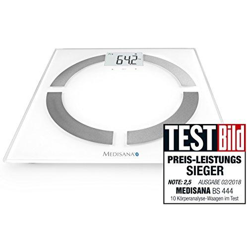 Medisana BS444 Personenwaage 40444, mit App zur Körperanalyse, bis 180 kg