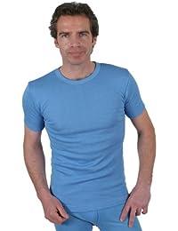 Sous-Vêtements Thermique (Maillot de Corps) Pour Homme Manches Courtes Bleu Variétés de Taille