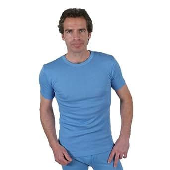 Sous-Vêtements Thermique (Maillot de Corps) Pour Homme Manches Courtes Blue Large