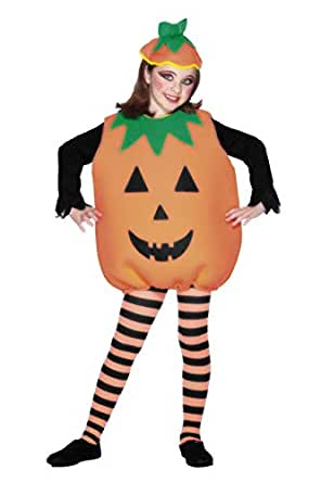 Smiffys Children's Pumpkin Costume, Bodysuit & Hat, One Size, Color: Orange, 25151