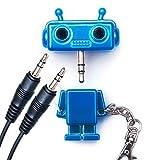 Goods & Gadgets Kopfhörersplitter Audiosplitter Kopfhörer-Audio-Splitter-Adapter 3,5mm dual Klinkenverteiler