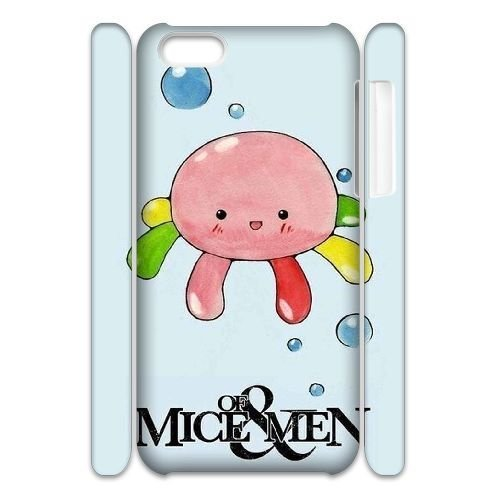 HFHFcase Best 3D-printed Cell Phone Case for Iphone 5C, Of Mice & Men 3D Iphone 5C Customized Case
