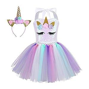 TiaoBug Vestido de Unicornio Niñas
