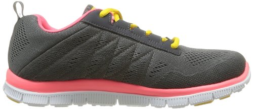 Skechers Flex Appeal Sweet Spot, Baskets mode femme Gris (Cchp)