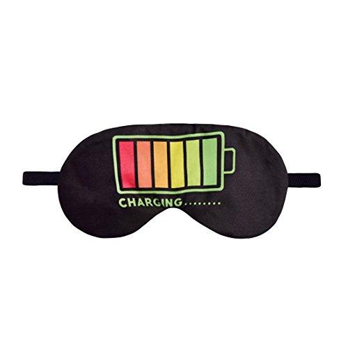 Schlafmaske Reise Relax Augen Abdeckung Bett Emoji Nickerchen Augenbinde Seine Charging Battery [042]