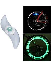 LED Speichen Draht Reifen Rad Fahrradlicht, Nourich Wasserdicht Fahrradleuchte Fahrradbeleuchtung, Fahrradlampe, Fahrrad Radfahren Helle Lampe (Grün)