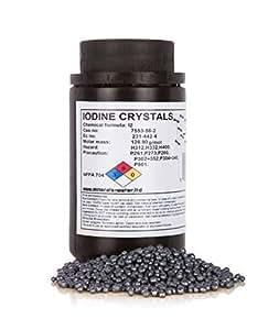 50g Iode cristaux resublimé +99,9%, pur qualité produit
