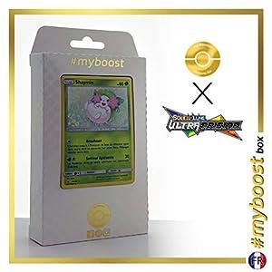 Shaymin 15/156 Holo - #myboost X Soleil & Lune 5 Ultra-Prisme - Box de 10 Cartas Pokémon Francés
