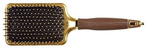 Olivia Garden Haarbürste NanoThermic 15707, Paddle Bürste, 13-reihig