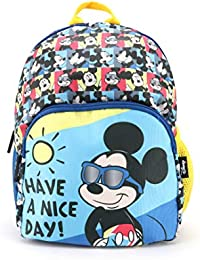 QIPS Disney Mickey Mouse 12 Inch / 10 Ltrs Polyester School Backpack for Kids (HMHMSB 22038-MK)