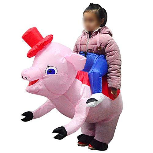 S+S Aufblasbare Kleidung Kinder Reiten Schwein Aufblasbare Kleidung Spaß Bühnenkleidung Rollenspiele Halloween Spielzeug Lustige Kinder Unisex Fat - Fat Suit Kostüm Tanz