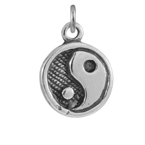 TheCharmWorks Sterling-Silber Yin-Yang-Symbol Charmanhänger   Sterling Silver Yin Yang Charm