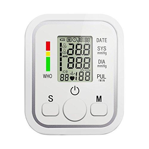 Toprime Pressione Sanguigna Digitale Da Braccio Perfetto per Uso Domestico e Presa per Ricarica USB Misurazione Sistolica e Diastolica e Polso per Ipertensione