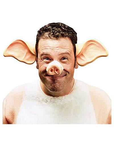 Horror-Shop Schweine Ohren als Haarreif - Kostümzubehör für Fasching & Karneval