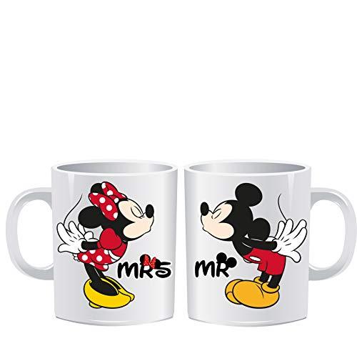 Coppia tazze mug disney idea regalo san valentino tazza colazione 11 oz mickey mouse topolino minnie amore fidanzati sorpresa collezione decorazioni idea regalo compleanno ragazzo uomo donna ragazza