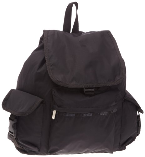 le-sportsac-travel-bag-backpack-rucksack-black-size-one-size