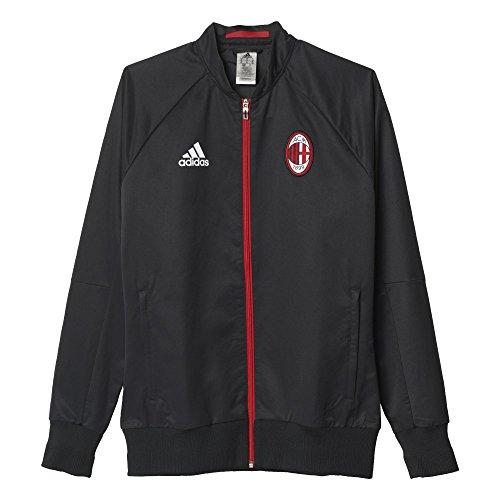 Ac Mailand Jacke (adidas Herren AC Mailand Anthem Jacke Fuβballjacke, Schwarz/Rot, XS)
