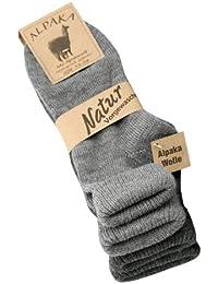2 Paar Alpaka Socken Damen mit Umschlag