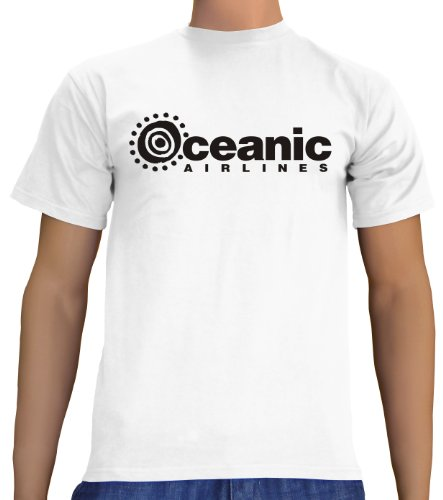 Touchlines Unisex/Herren T-Shirt Oceanic Airlines - Lost Dharma, white, XXL, (Halloween Band Kostüme Metal)