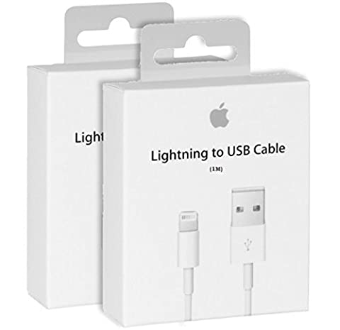 Câble iPhone original Apple - cable lightning vers USB Chargeur d'origine pour iPhone 7/7 Plus, 6/6 Plus/6s/6s plus, iPhone 5 5c 5s, iPad Mini, iPad Air, iPod Touch, iPod (Blanc) (1m)