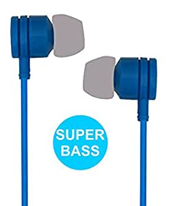 Jkobi Stylish Design Handsfree Earphones Compatible For Lenovo A6000 Shot -Blue