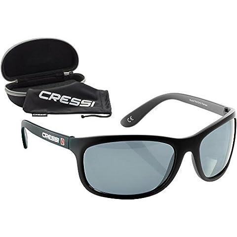 Cressi Rocker, Occhiali da Sole Polarizzati, Nero/Lenti (Occhiali da sole)