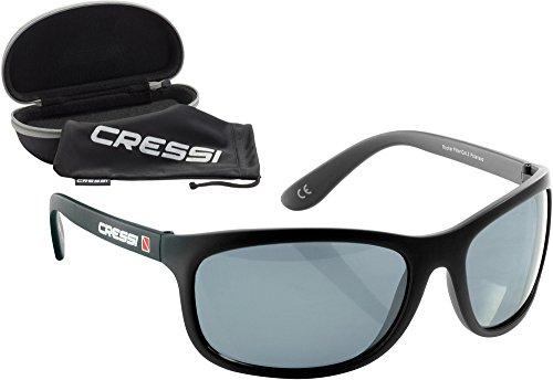 Cressi Rocker Occhiali da Sole Sportivi Uomo con Custodia Rigida, Unisex, Nero