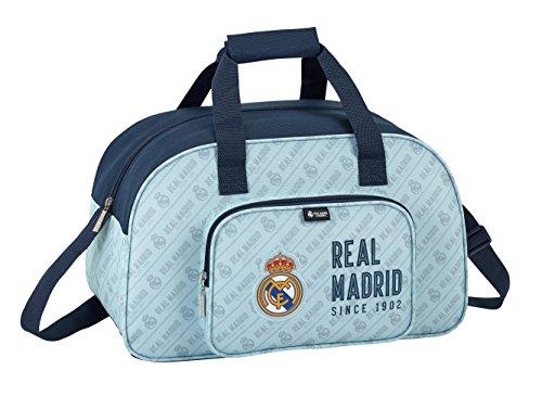 Safta Real Madrid Logo 2018 Bolsa de deporte, 40 cm, 22.08 litros, Azul