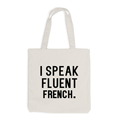 Borsa Di Juta - Parlo Fluentemente Francese - Lingua Francese Beige