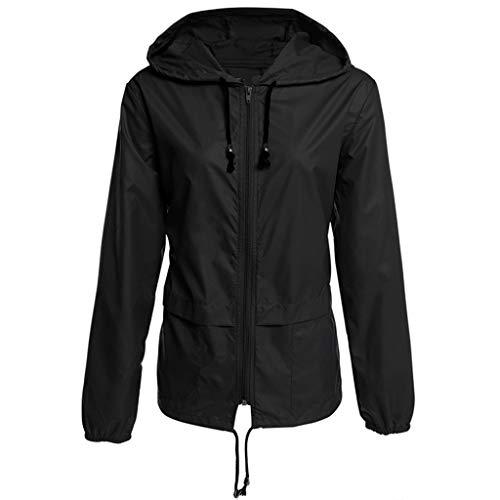 Mymyguoe Feste Regenjacke im Freien Kapuze Loser Mantel Frauen im Freienjacke mit Kapuze Damen Softshell Jacke Outdoor Regen-Jacke imprägniern mit Kapuze windundurchlässigen losen Mantel