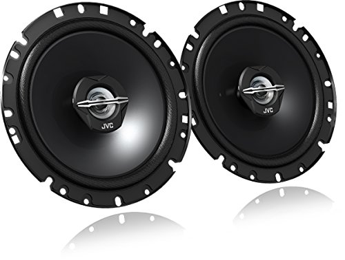 JVC JVC02CSJ1720X - Kit de altavoces coche (300 W, 30 - 22.000 Hz, 4 ohmios), color negro