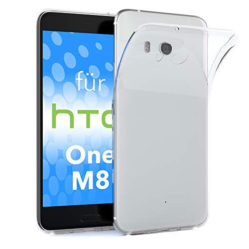 EAZY CASE HTC One (M8) / (M8s) Schutzhülle Silikon, Ultra dünn, Slimcover, Handyhülle, Silikonhülle, Backcover, Durchsichtig, Klar Transparent