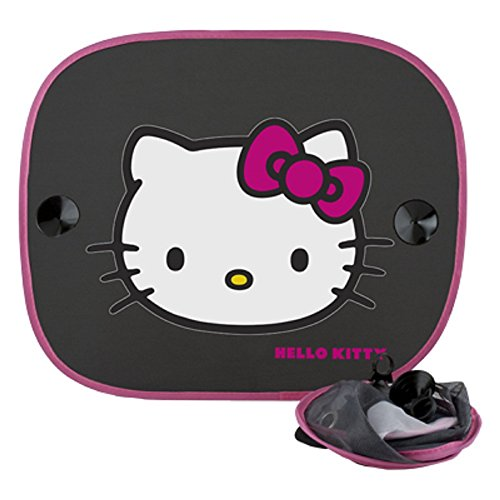 ABC Parts Hello Kitty KIT3014 Tendine Coprisole, Nero, Set di 2