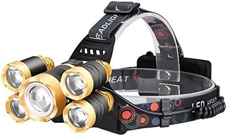 FGKING Lampada Frontale a LED, Brightest 3 3 3 modalità Impermeabile LED Faro 18650 Batteria Ricaricabile Faro torce per Outdoor Camping Festival Regali   Discount    Vogue  691ea9