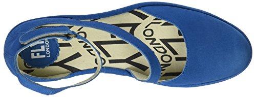 Fly London Plan717fly, Scarpe con Cinturino alla Caviglia Donna Blu (Electric Blue)