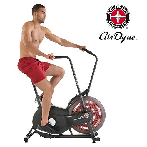 Schwinn Airdyne AD2, Fitnessbike mit grenzenlosem Luftwiderstand, LCD-Konsole, leistungsstarker Antriebsriemen, Transportrollen, max. Benutzergewicht 113 kg