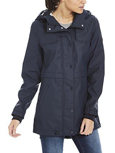 Bench Damen Regenmantel Bonded Slim Rainjacket, Blau (Essentially Navy Bl11341), Small