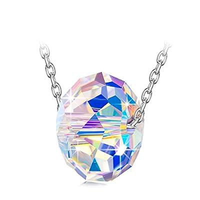 "NINASUN ""Winter Sonata"" 925 Sterling Silver Aurore Boreale Crystals from SWAROVSKI, Women Necklace Pendant, Allergen-free, 45+6cm Extender"
