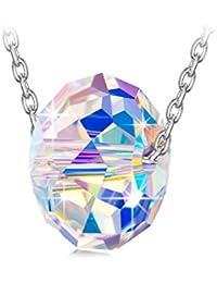 """NINASUN """"Sonata de Invierno"""" 925 Plata Aurore Boreale Fabricados con Cristales SWAROVSKI® Colgante Collar Mujer"""