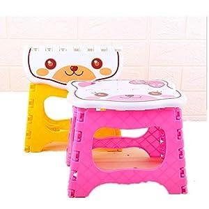 kabinga YM 103 plástico Simple, Banco pequeño de baño, Taburete de Pesca Plegable portátil para Adultos al Aire Libre para niños, Gato, Color Aleatorio, Unisex-Youth, M